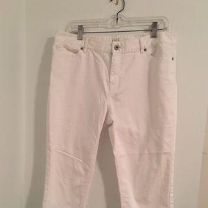 White J. Jill cropped jeans